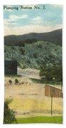 Coalinga Oil And Transportion Co. Pumping Station No. 2 Circa 1910 Beach Towel