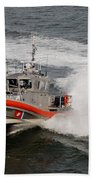 Coast Guard In Action Beach Towel