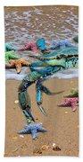 Coastal Crab Collection Beach Sheet