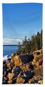 Coastal Maine Landscape. Beach Towel