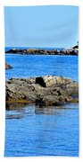 Coastal Route 1 In Maine Beach Towel