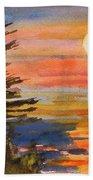 Coastal Sunset Beach Towel