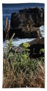 Coastal View From Cascais  Beach Towel