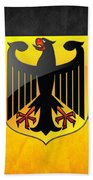 Coat Of Arms And Flag Of Germany Beach Towel