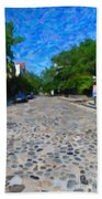 Cobblestone Street Beach Towel