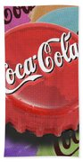 Coca-cola Cap Beach Towel by Tony Rubino
