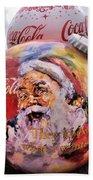 Coca Cola Christmas Bulbs Beach Towel