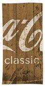 Coca Cola Classic Barn Beach Towel