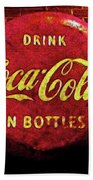 Coca Cola Dylan Quote Beach Towel