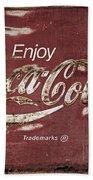 Coca Cola Faded Sign Beach Towel