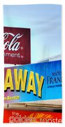 Coca-cola - Old Shop Signage Beach Towel by Kaye Menner