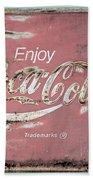 Coca Cola Pastel Grunge Sign Beach Sheet
