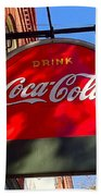 Coca Cola Sign In Georgia Beach Towel