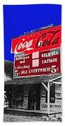 Coca-cola  Sign Palace Cafe Sumter South Carolina 1912-2013   Beach Towel