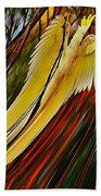 Cockatoo In Abstract Beach Towel