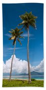 Coconut Trees Beach Towel
