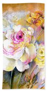 Coeur De Rose Beach Towel