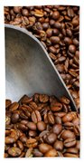 Coffee Beans With Scoop Beach Towel