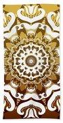 Coffee Flowers 10 Calypso Ornate Medallion Beach Towel