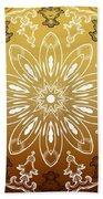 Coffee Flowers 11 Calypso Ornate Medallion Beach Towel