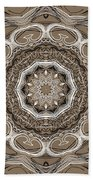 Coffee Flowers 2 Ornate Medallion Beach Towel