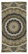 Coffee Flowers 2 Ornate Medallion Olive Beach Towel