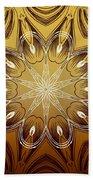 Coffee Flowers 4 Calypso Ornate Medallion Beach Towel