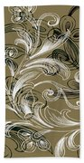 Coffee Flowers 4 Olive Beach Towel by Angelina Vick
