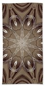 Coffee Flowers 4 Ornate Medallion Beach Towel