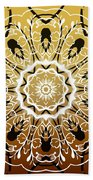 Coffee Flowers 5 Calypso Ornate Medallion Beach Towel