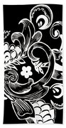 Coffee Flowers 8 Bw Beach Towel