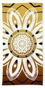 Coffee Flowers Medallion Calypso Triptych 2  Beach Towel