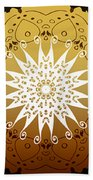 Coffee Flowers Medallion Calypso Triptych 3  Beach Towel