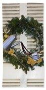 Coffee Wreath Beach Towel