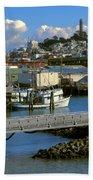 Coit Tower And Marina - San Francisco Beach Towel