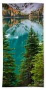 Colchuck Reflection Beach Towel