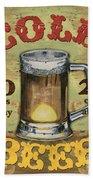 Cold Beer Beach Towel by Debbie DeWitt