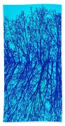 Cold Blue Beach Towel