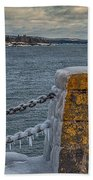 Cold Day On Superior Beach Towel
