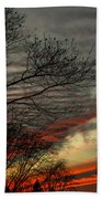 Cold Front Sunset Beach Towel