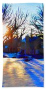 Cold Morning Sun Beach Towel by Jeff Kolker