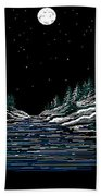Cold Mountain Winter Beach Towel