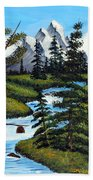 Cold Rattling Brook  Beach Towel by Barbara Griffin