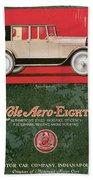 Cole Aero Eight Vintage Poster Beach Towel