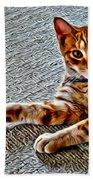 Cole Kitty Beach Towel
