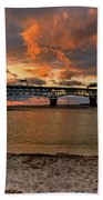 Coleman Bridge At Sunset Beach Towel