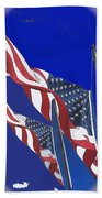 Collage Half Mast Flag Honoring President Ronald Reagan Number 2 Casa Grande Az  2004-2013 Vignetted Beach Towel