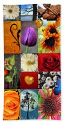 Collage Of Happiness  Beach Towel
