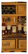 Collection Of Wines And Armagnac Beach Towel