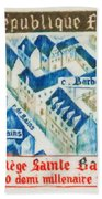 College Of St. Barbe 1460-1960 Half A Millennium Beach Towel